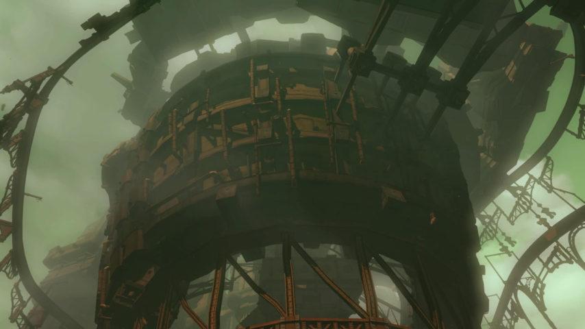 Minecrafterししゃもがマインクラフトで空中都市プコサヴィルの外殻を作る2