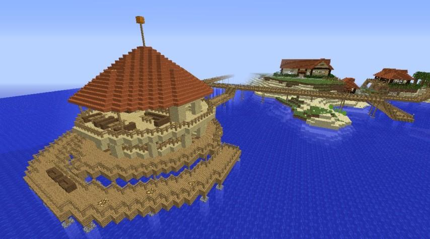 Minecrafterししゃもがマインクラフトでぷっこ村に酒場を建設する1