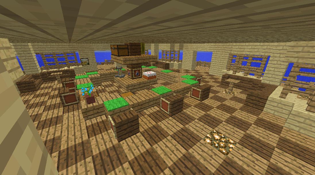 Minecrafterししゃもがマインクラフトでぷっこ村に酒場を建設する4