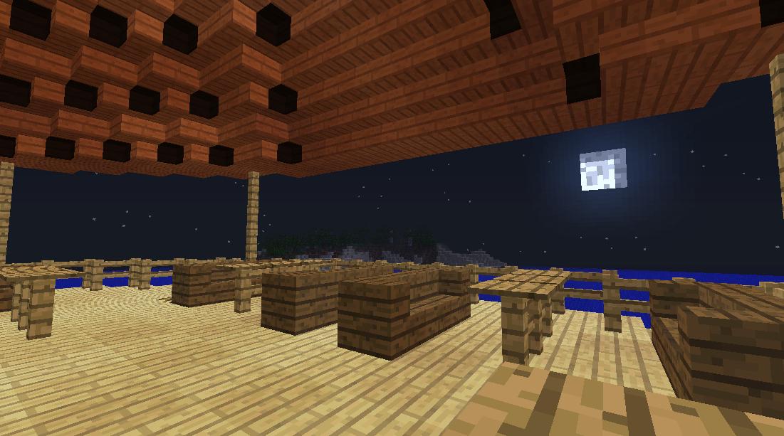 Minecrafterししゃもがマインクラフトでぷっこ村に酒場を建設する7