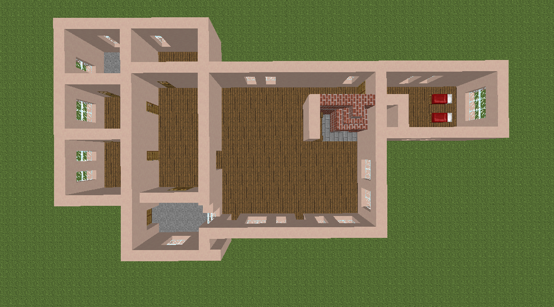 Minecrafterししゃもがマインクラフトで11代目右近権左衛門邸をぷっこ村仕様でアレンジ再現する6