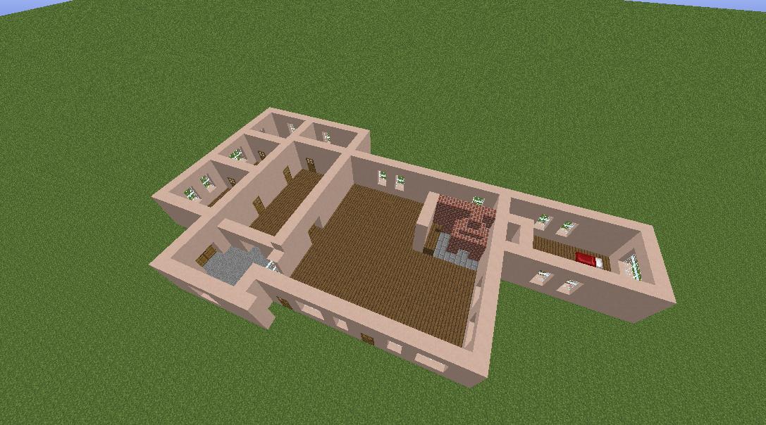 Minecrafterししゃもがマインクラフトで11代目右近権左衛門邸をぷっこ村仕様でアレンジ再現する5