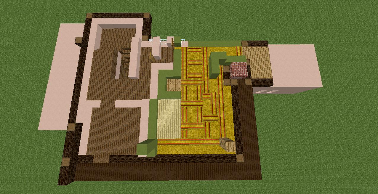 Minecrafterししゃもがマインクラフトで11代目右近権左衛門邸をぷっこ村仕様でアレンジ再現する8