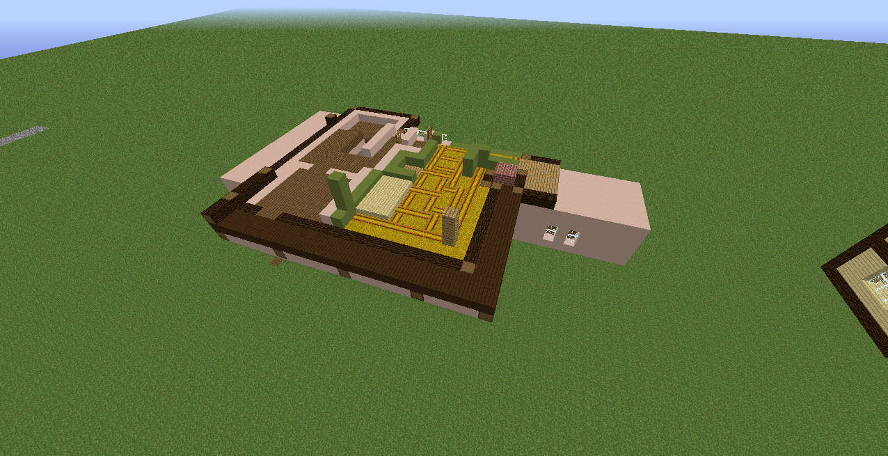 Minecrafterししゃもがマインクラフトで11代目右近権左衛門邸をぷっこ村仕様でアレンジ再現する7