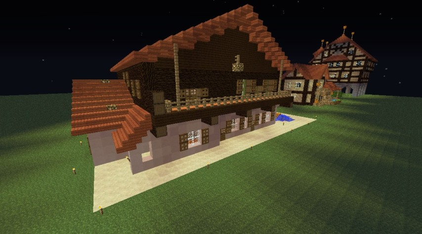 Minecrafterししゃもがマインクラフトで11代目右近権左衛門邸をぷっこ村仕様でアレンジ再現する9