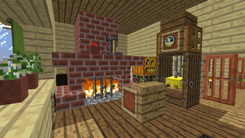 Minecrafterししゃもがマインクラフトでぷっこ村に小島の洋館を建設する4