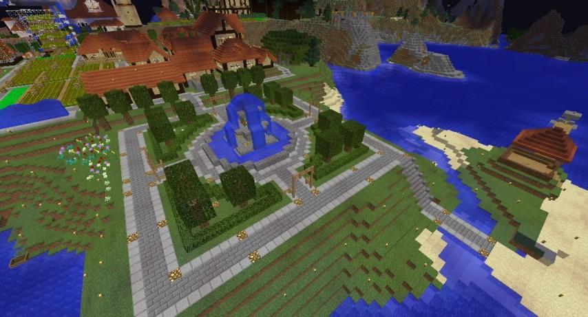Minecrafterししゃもがマインクラフトでぷっこ村の居住地区を紹介する9