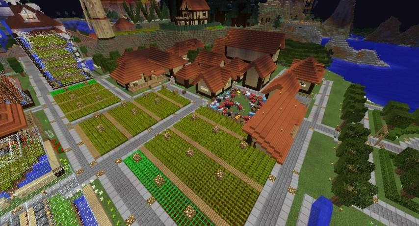 Minecrafterししゃもがマインクラフトでぷっこ村の居住地区を紹介する1