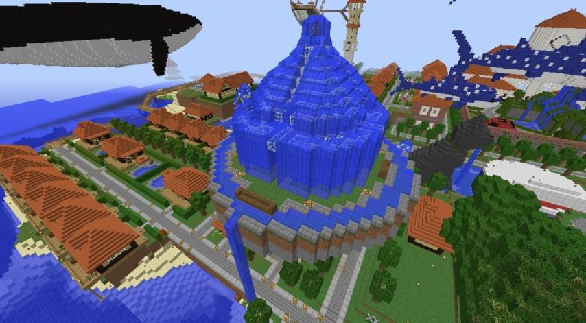 Minecrafterししゃもがマインクラフトでぷっこ村にトラップタワーを建設する1