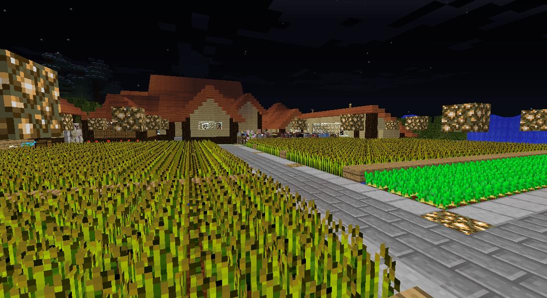 Minecrafterししゃもがマインクラフトでぷっこ村の農業を紹介する1