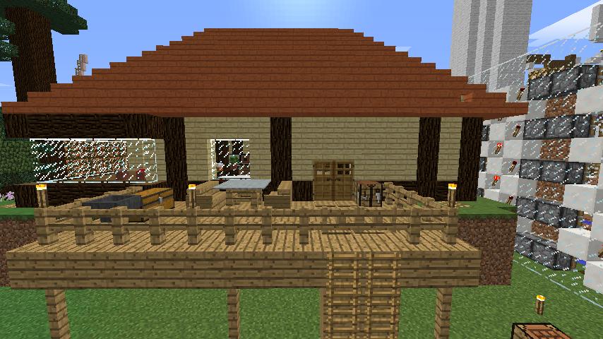 Minecrafterししゃもがマインクラフトでぷっこ村に拠点を建設する2