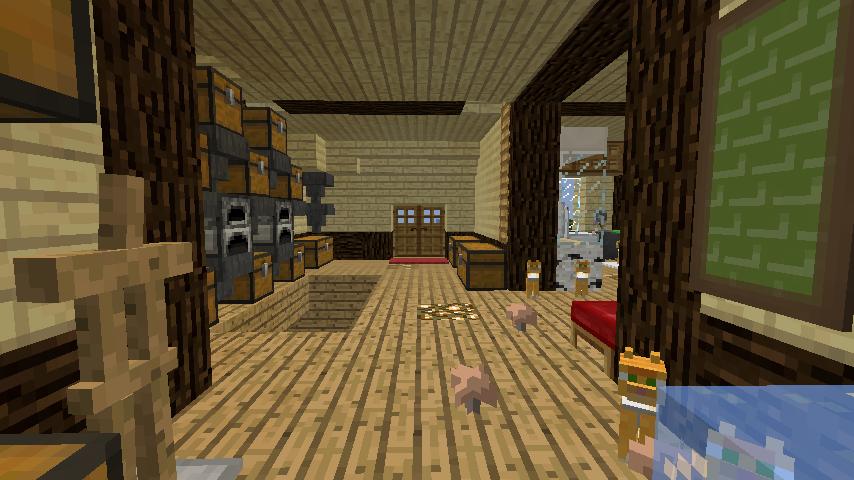 Minecrafterししゃもがマインクラフトでぷっこ村に拠点を建設する3