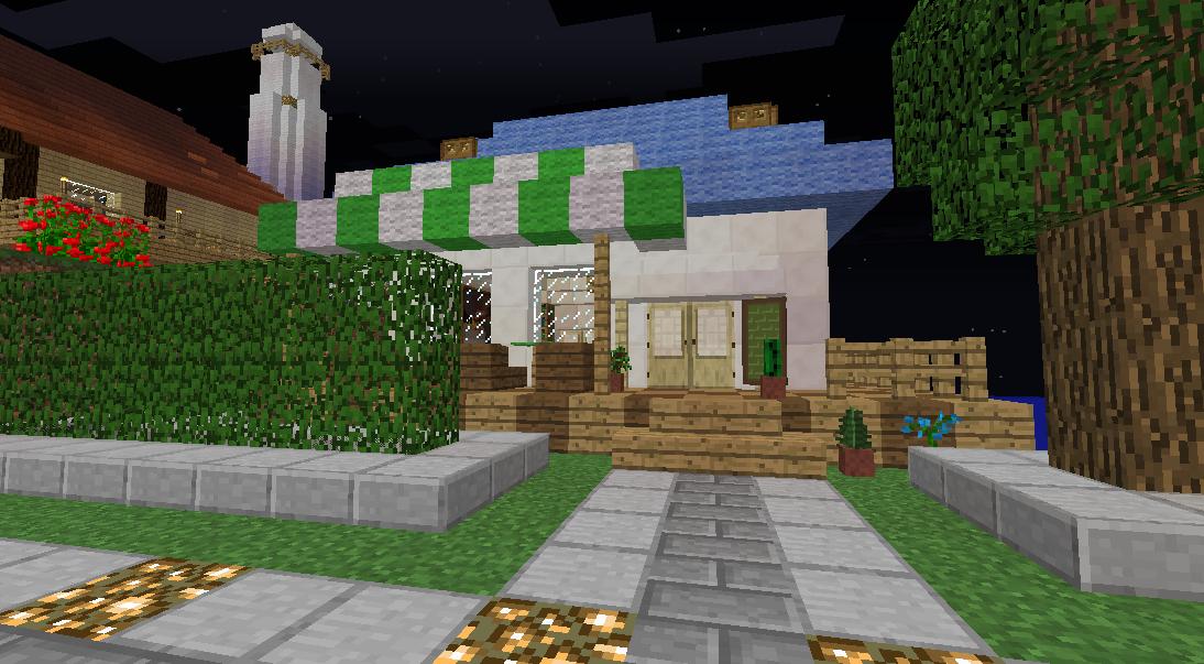 Minecrafterししゃもがマインクラフトでぷっこ村にカフェを建設する2