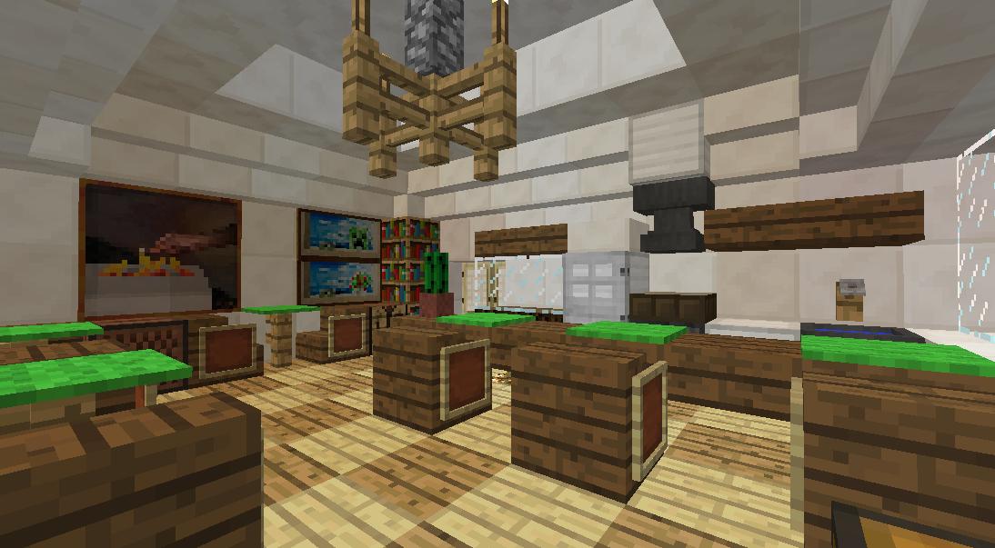 Minecrafterししゃもがマインクラフトでぷっこ村にカフェを建設する3