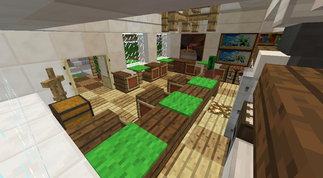 Minecrafterししゃもがマインクラフトでぷっこ村にカフェを建設する4