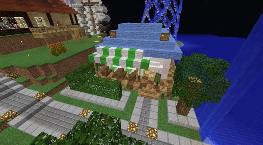 Minecrafterししゃもがマインクラフトでぷっこ村にカフェを建設する1