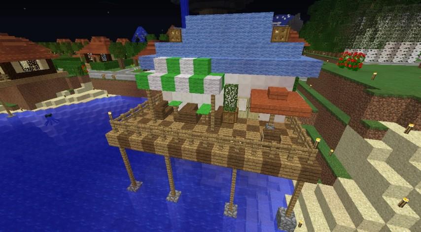 Minecrafterししゃもがマインクラフトでぷっこ村にカフェを建設する6