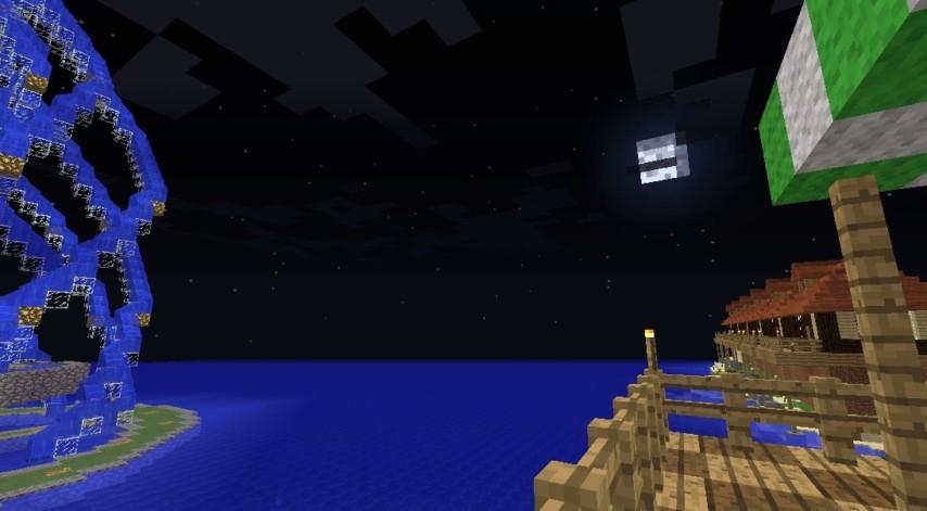Minecrafterししゃもがマインクラフトでぷっこ村にカフェを建設する7