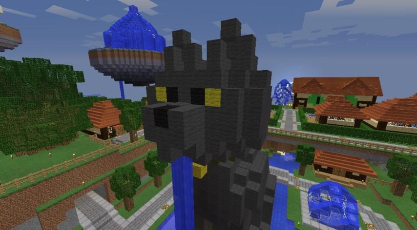 Minecrafterししゃもがマインクラフトでぷっこ村にペットの猫のししゃもを作成する2