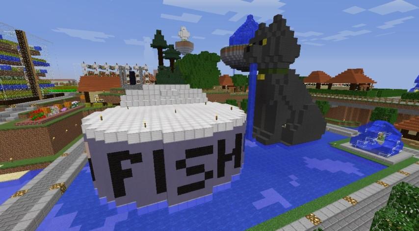 Minecrafterししゃもがマインクラフトでぷっこ村にペットの猫のししゃもを作成する1