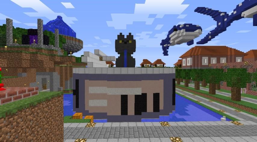 Minecrafterししゃもがマインクラフトでぷっこ村にペットの猫のししゃもを作成する3