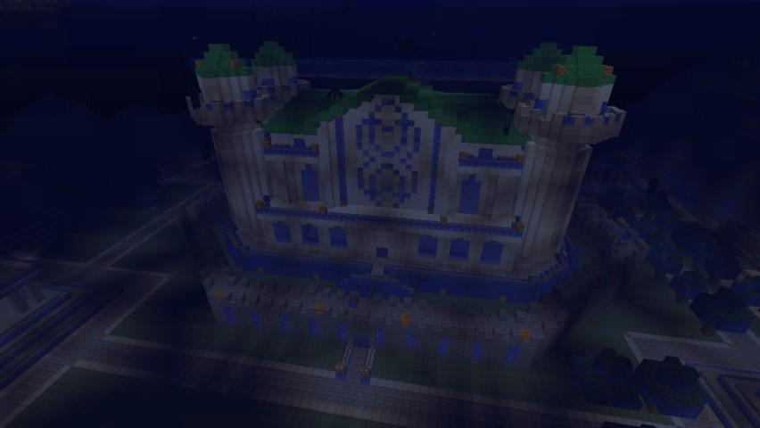Minecrafterししゃもがマインクラフトでぷっこ村に海底の城を建設する4