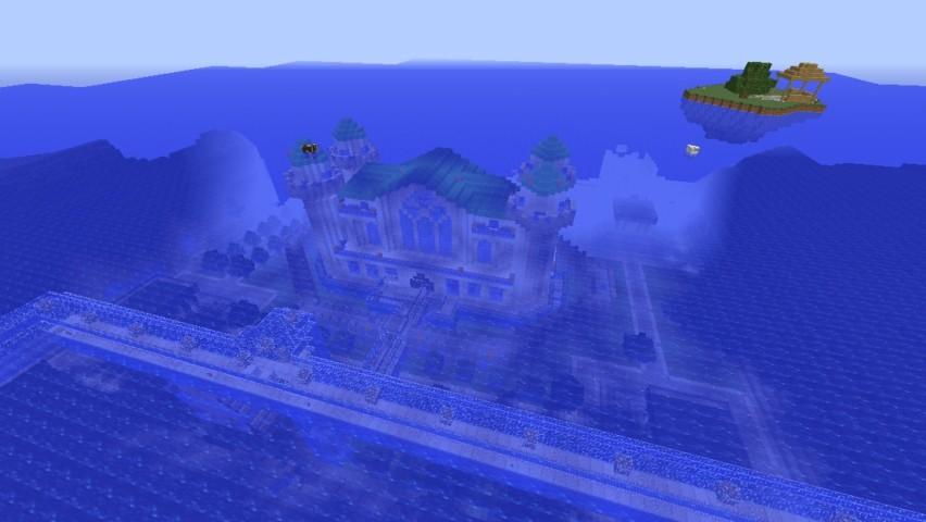 Minecrafterししゃもがマインクラフトでぷっこ村に海底の城を建設する5