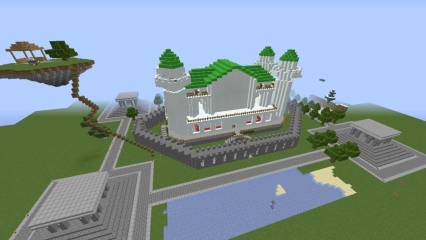 Minecrafterししゃもがマインクラフトでぷっこ村に海底の城を建設する2