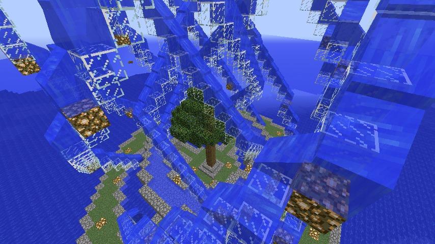Minecrafterししゃもがマインクラフトでぷっこ村に巨大な噴水を建設する4