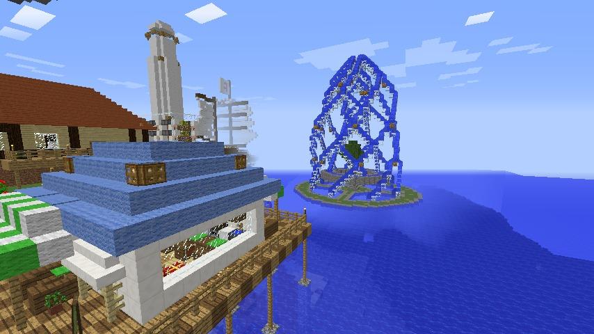 Minecrafterししゃもがマインクラフトでぷっこ村に巨大な噴水を建設する1