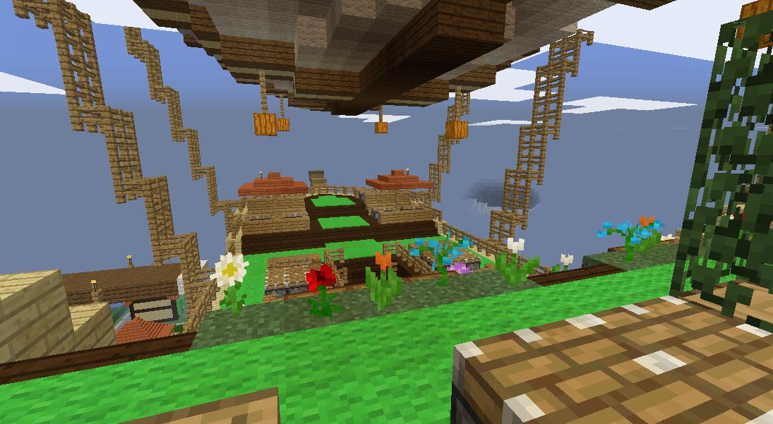 Minecrafterししゃもがマインクラフトでぷっこ村に観光用の遊覧飛行船を建設する4