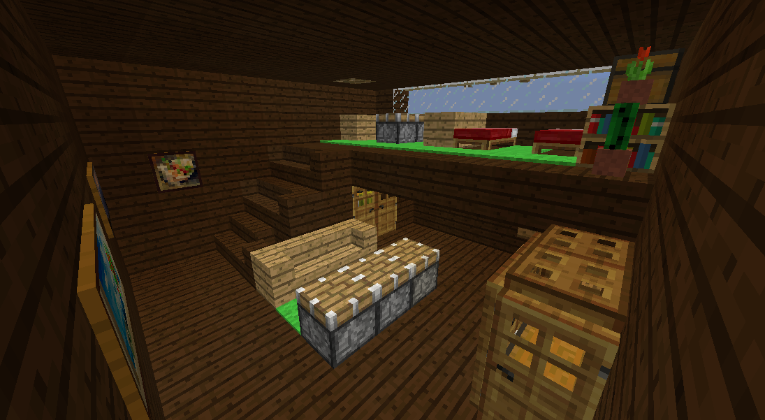 Minecrafterししゃもがマインクラフトでぷっこ村に観光用の遊覧飛行船を建設する7