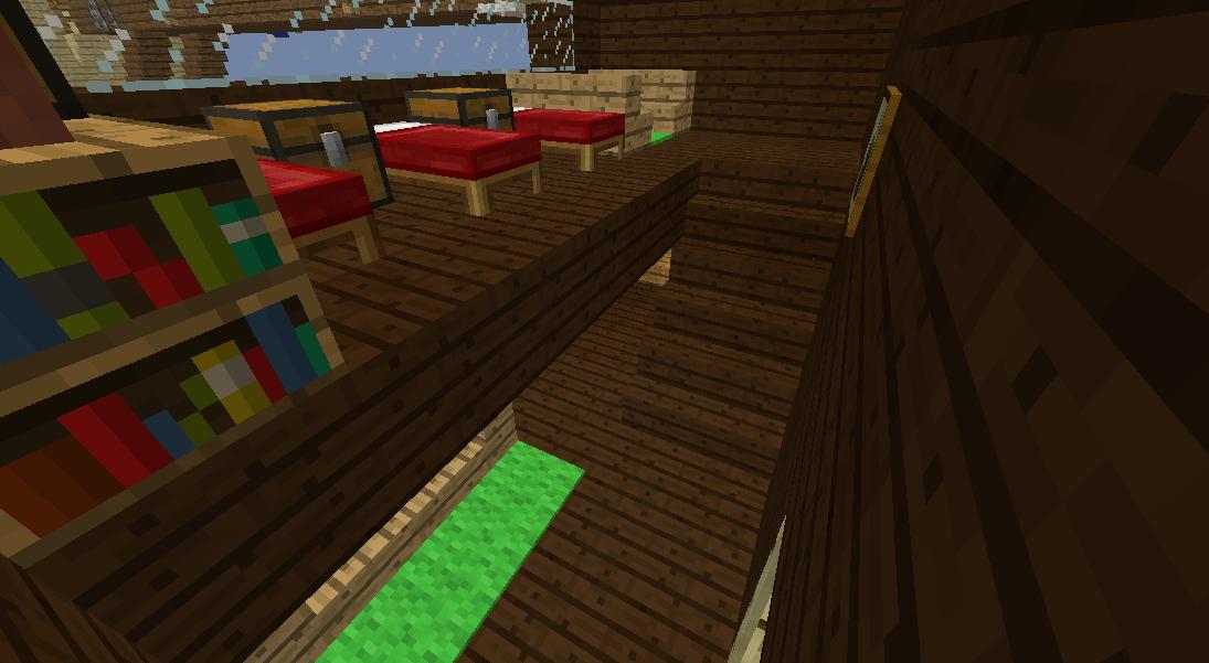 Minecrafterししゃもがマインクラフトでぷっこ村に観光用の遊覧飛行船を建設する8