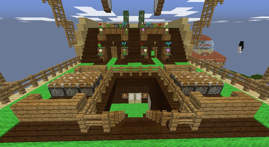 Minecrafterししゃもがマインクラフトでぷっこ村に観光用の遊覧飛行船を建設する6