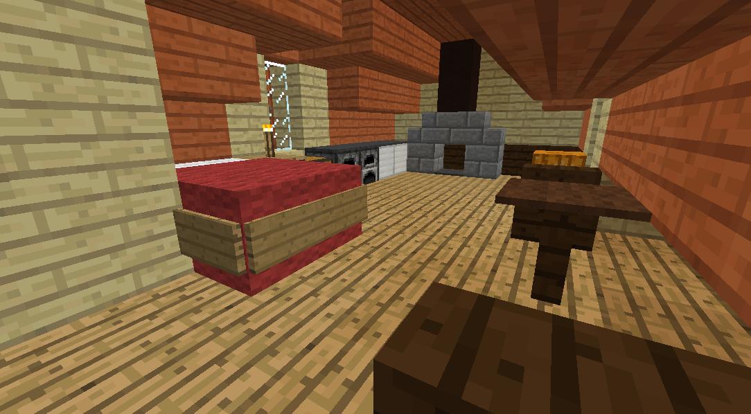 Minecrafterししゃもがマインクラフトでぷっこ村にジブリのグーチョキパン店をアレンジして建設する8