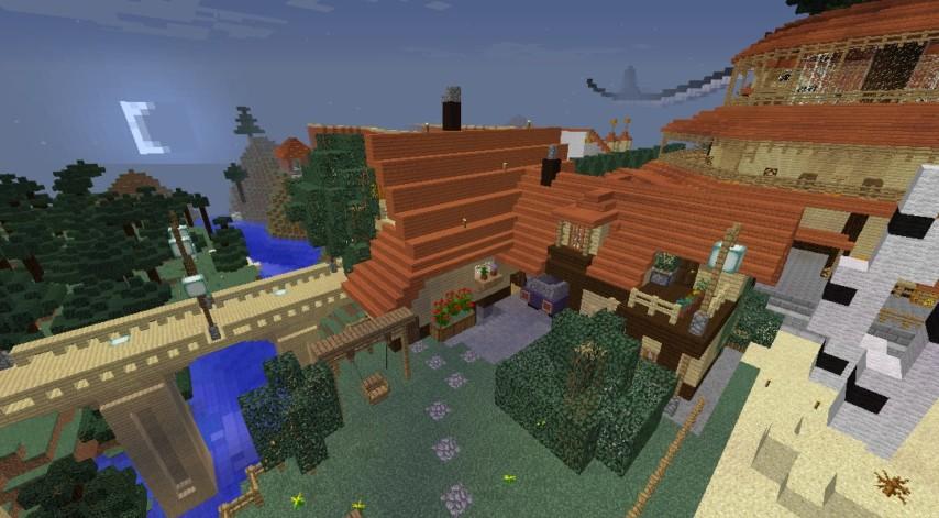 Minecrafterししゃもがマインクラフトでぷっこ村にジブリのグーチョキパン店をアレンジして建設する7