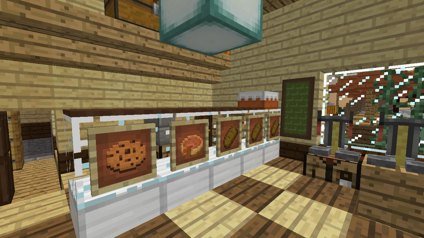 Minecrafterししゃもがマインクラフトでぷっこ村にジブリのグーチョキパン店をアレンジして建設する5