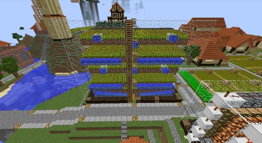 Minecrafterししゃもがマインクラフトでぷっこ村の農業を紹介する5