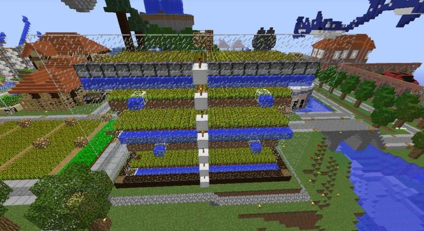 Minecrafterししゃもがマインクラフトでぷっこ村の農業を紹介する6