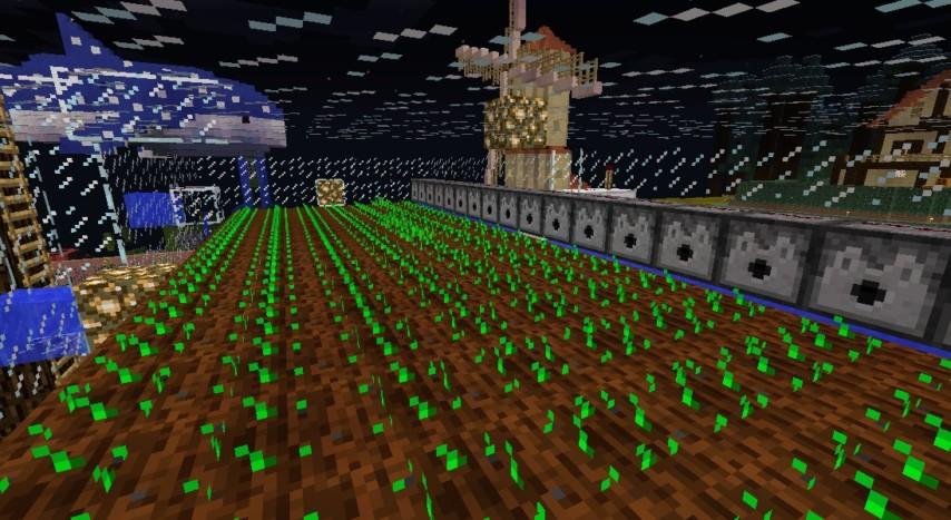 Minecrafterししゃもがマインクラフトでぷっこ村の農業を紹介する8