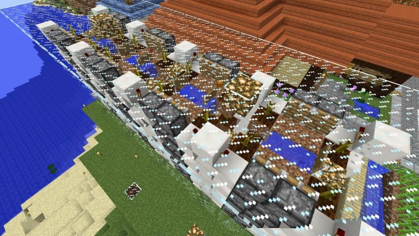 Minecrafterししゃもがマインクラフトでぷっこ村の全自動カボチャスイカ栽培機を紹介する2