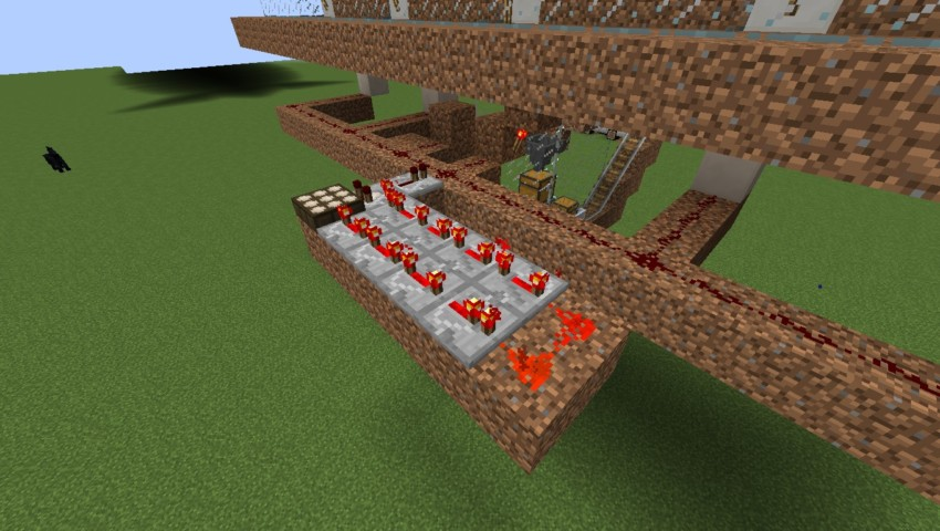 Minecrafterししゃもがマインクラフトでぷっこ村の全自動カボチャスイカ栽培機を紹介する4