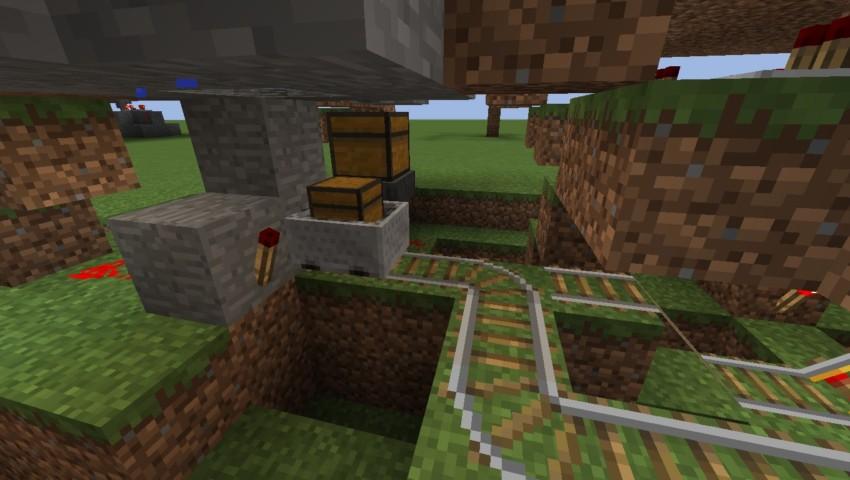 Minecrafterししゃもがマインクラフトでぷっこ村の全自動カボチャスイカ栽培機を紹介する8