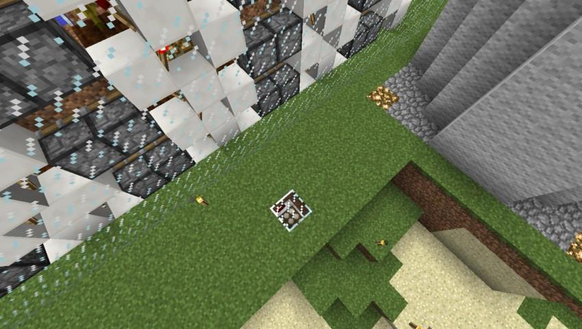 Minecrafterししゃもがマインクラフトでぷっこ村の全自動カボチャスイカ栽培機を紹介する3