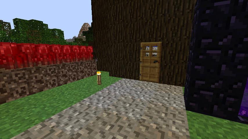 Minecrafterししゃもがマインクラフトでぷっこ村の外れに大樹を作成する2