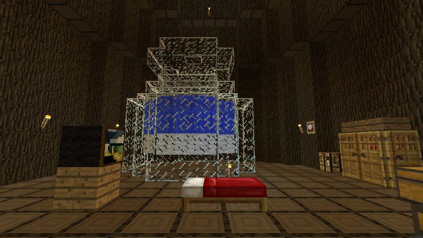Minecrafterししゃもがマインクラフトでぷっこ村の外れに大樹を作成する3