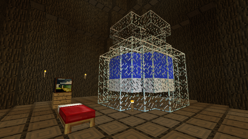 Minecrafterししゃもがマインクラフトでぷっこ村の外れに大樹を作成する4