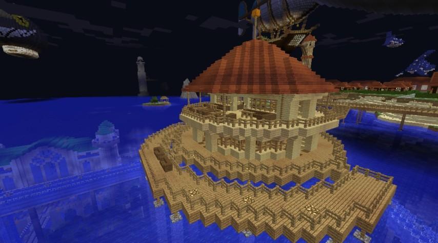 Minecrafterししゃもがマインクラフトでぷっこ村に酒場を建設する2