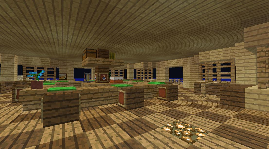 Minecrafterししゃもがマインクラフトでぷっこ村に酒場を建設する5