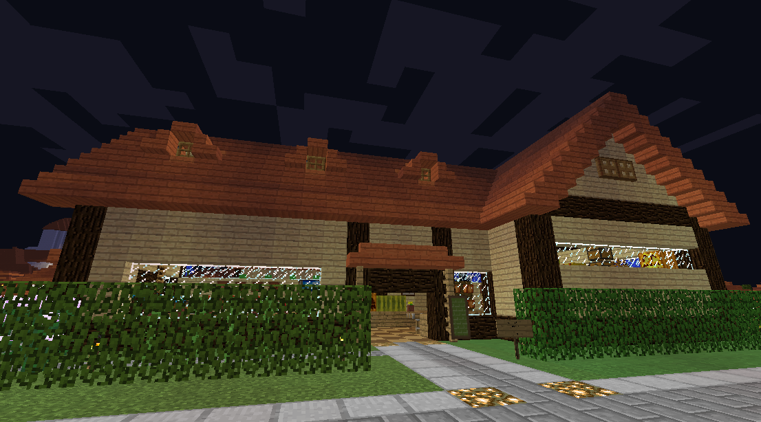 Minecrafterししゃもがマインクラフトでぷっこ村に土産物屋を建設する1